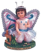 Pink Butterfly Princess Figurine